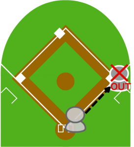 (4)打者一塁アウト