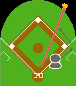 2.センターが取れるはずのこの打球を弾いた。