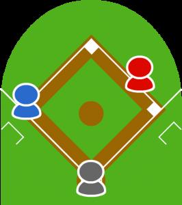 2.3塁走者を気にしているピッチャーを見て1塁走者は大きなリードをとった。