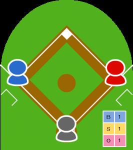 1アウト走者1・3塁 カウント1-1