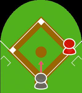 1.打者が犠牲バントをした。