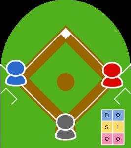 ノーアウト走者1・3塁 カウント0-1